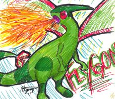 flygon marker scribble by little-ampharos