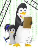 Me and Kowalski by Icicle1penguin