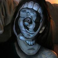 Twisted Screaming Face make up by lgoresfx