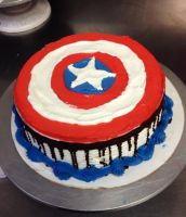 Captain America sheild by Crosseyed-Cupcake