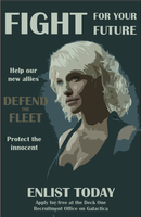 Caprica Six Rebellion Propaganda by artsycayke