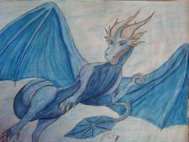 Saphira the saphire dragon by 99Sechmet