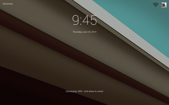 [WIP] Android L for Rainmeter - Lock Screen by ScoobSTi