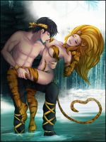 Commission: Ryoga and Tigress Felicia by R-Legend