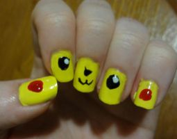 Pikachu nails by kelles-nails