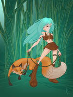 A Girl and Her Fox by arixystix