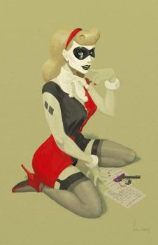 Harley Quinn Pin Up by SpicyDonut
