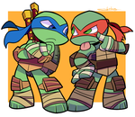 Leo and Raph by SakikoAmana