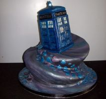 Doctor Who Cake :3 by PercyTehSass