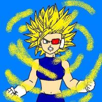 Salaris Going SSJ For the First Time by VegetaLover12654