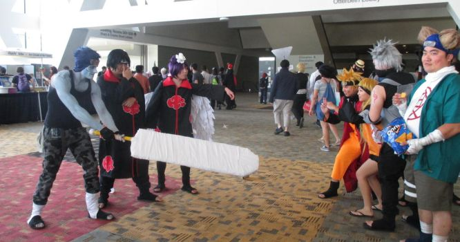 Naruto Cosplay face-off at Otakon 2015 by MisterAlterEgo