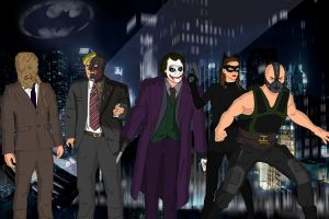 The Dark Knight Villains by Deathstroke19