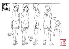 Haru - Model Sheet Finished by Uchiha-Harumi