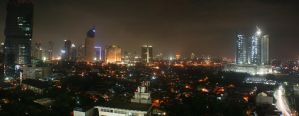 jakarta at night by esthetic-of-sight