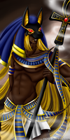 Anubis el senior de la Necropolis by Dai-QuARTu