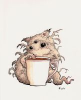 Monsters with cups - tea by Alliot-art