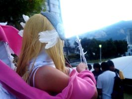 Another photo of my angewomon cosplay XD by HaruhichanxD