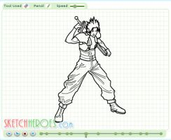How to draw Zack Fair Part 2 by SketchHeroes