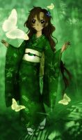 Bishoujo in Green by Lithiel