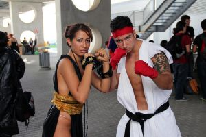 Ryu and Chun Li by SueMorenaRoma