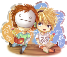 Scribblenauts Unlimited with Cry and PewDiePie~ by niyari-neko