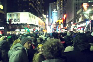 New Year at Time Square. by ippiki-wolf