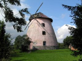 Pink Windmill by Gandi24