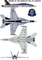 Boeing EA-18G Growler VAQ-131 Lancers retro by bagera3005