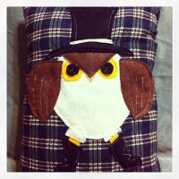 Angry Owl in Top-hat! - for sale $25.00 shipped! by InkyDreamz