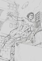 Nightwing Redesign Drawing by dg-doodles