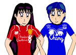 Sailor Mars(Liverpool) and Sailor Mercury(Everton) by Trevor911