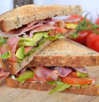 BLT - Bacon Lettuce Tomato Sandwich CUT by Catlerhyne