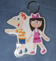 Phineas and Isabella keychain by BlueSmudge