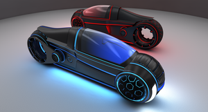Tron Light Cycle Bikes by 3RDAXISDesign