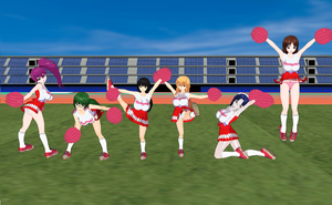Mizugi Kanojo Girls Cheerleaders by quamp