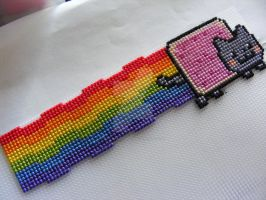 Nyan Cat Cross Stitch by lola-huni-buni