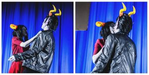 Cronus Ampora and Damara Megido cosplay- KISS by Dead-Batter