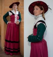 Renaissance civil dress by Celefindel