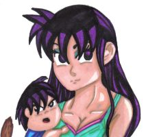 Baby Radd and his mom by Jenna-a-Sayianbabe