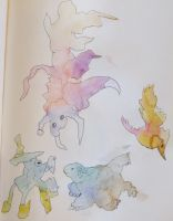 Watercolor Monsters 2 by gyerase