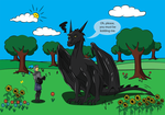 Dragon rider? by The-Black-Panther