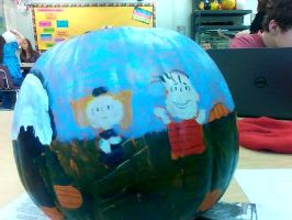 It's the Great Pumpkin on a Pumpkin Charlie Brown! by TimK-otic