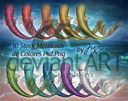 Mermaids Stocks PSD-PNG by Maryneim