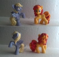 Derpy and Peanut Buckers blindbag repaints MLP:FIM by elfy016