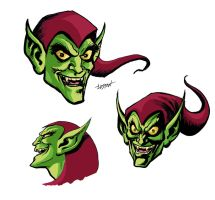 Green Goblin Heads by LostonWallace