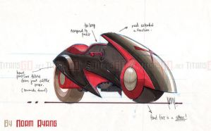 Red-X Cycle Concept by TitansAnonymous