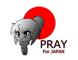 Pray for Japan by Myuutsufan