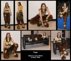 Finished Faun Costume by lauraneko