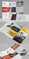 Clean Multipurpose Corporate Trifold Templates II by env1ro