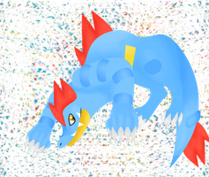 Feraligatr by Tainted-DolL